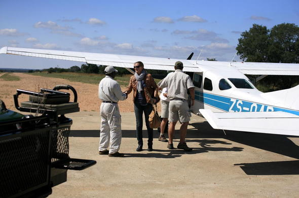 Flight to Thornybush Game Reserve.
