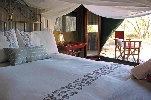 Kwa Mbili Game Lodge has comfortable tented accommodation.
