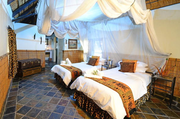 Tangala Safari Camp has twin room accommodation.