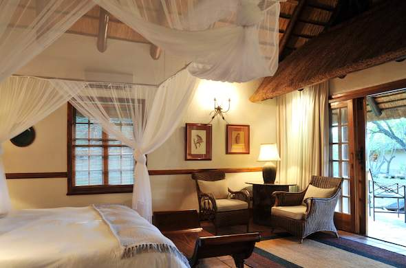 Comfortable and chic accommodation is offered at Waterside Lodge.